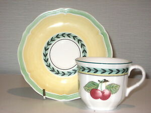 Villeroy Boch Made In Germany French Garden Cup & Saucer Set..Like-New Condition