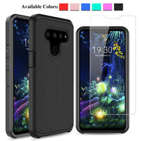 For LG V50 / V50 ThinQ 5G Shockproof TPU Phone Case/Glass Screen Protector Cover