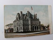 POSTCARD NH Manchester New Hampshire Post Office Vintage O-1