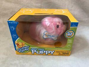 """ZHU ZHU PETS Puppies """"Loolah"""" Pink Puppy with Brush Brand NEW"""
