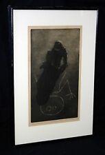 "1969 US Etching Aquatint Print AP ""Boy Drawing w Chalk""  by Ben K.illegible(***)"