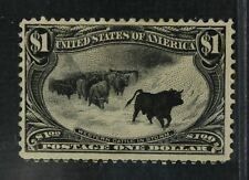 CKStamps: US Stamps Collection Scott#292 $1 Mint H OG Thin CV$1500