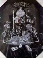 DGA Day of the Dead Dia de los Muertos Canvas Wall Art 12x16 Inch Game of Bones