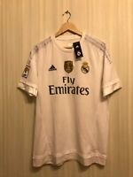 5+/5 Real Madrid 2015/2016 home Sz L Adidas shirt jersey maillot football soccer
