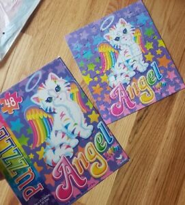 Lisa Frank Angel Puzzle Kitty Cat Y2k Kawaii Kids Toys Gifts Wings Rainbow