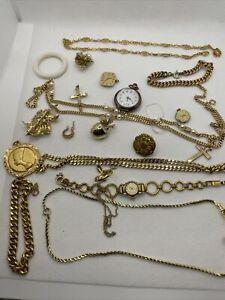 Wow* Schmuck sammlung konvolut aus Nachlass Ketten Uhr Armband Ohrringe