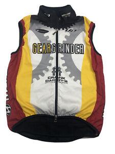 Louis Garneau Windbreaker Cycling Vest Full zip Size Small Gear Grinder