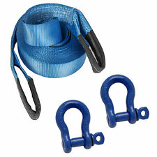 5M 4x4 Offroad Tow Rope Heavy Duty Towing Strap & 2 x 7/8 Shackles Recovery Kit