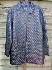 Ladies vintage HILARY RADLEY black leather jacket size 6/L