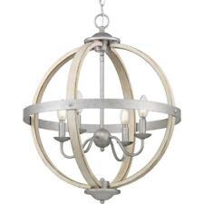 Progress Lighting Keowee 4-Light Galvanized Orb Chandelier
