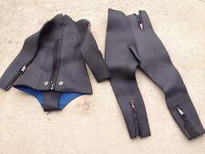 Aqua Lung U S Divers Full Length Wet Suit Black/Blue 2 Pieces Womens