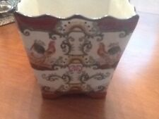 Decorative Hand Painted Oriental Planter/ Flower Pot