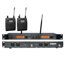 Dual Channel UHF Wireless In Ear Monitor System for Stage performance 150M