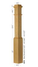 4091 Poplar Box Newel Post 6.25