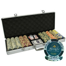 500ct 14G MONTE CARLO MILLIONS CLAY POKER CHIPS SET CUSTOM BUILD