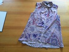H&M BLUSE TOP T-SHIRT 36 S PAISLEY MUSTER LEICHTE SOMMERBLUSE MEHRFARBIG BUNT