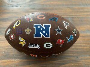 Wilson Mini Football Composite Leather 9 Inch Entire NFL 32 Teams Logos AFC NFC