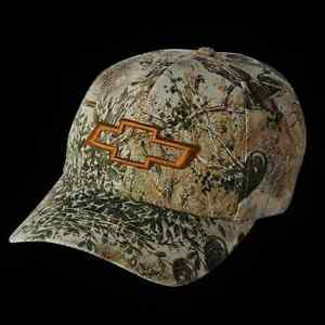 Chevrolet Open Bowtie Camo Game Guard Hunting Baseball Hat Chevy Drag Race Cap