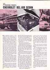 1959 CHEVROLET BEL AIR  -  348/310-HP  ~  NICE 6-PAGE ROAD TEST / ARTICLE / AD