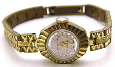 "Vintage 6.5"" SERENITY Wind-Up Watch Small Ladies Gold Tone UNSURE IF IT WORKS"
