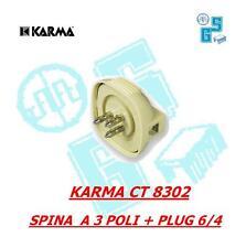 KARMA CT 8302 SPINA A 3 POLI TELEFONO SIP/ PLUG 6/4 COLORE AVORIO