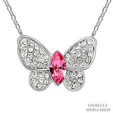 Collana Donna con Ciondolo Farfalla Crystal Swarovski Zirconi - G105