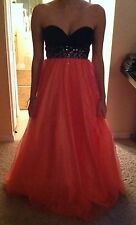 Pink And Black Sequence Prom Dress Size 1
