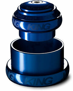 Chris King Inset Sotto Voce Tapered 1 1/8 -1.5 inch pressfit headset Navy Blue