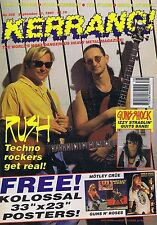 RUSH / CIRCLE OF SOUL / RED HOT CHILI PEPPERS Kerrang no. 359 Sep 21 1991