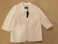 BNWT Marks and Spencer Autograph Ladies Ivory Jacket - Size 8 - RRP £99