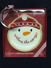 Hallmark Snowman Cookie Plate & Cookie Cutter Gift Set Christmas