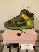 Nike SB Dunk High Pro de la soul hi OG size 7.5 Brown Green Pink Box