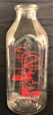 Vintage 1960s Westmoreland Dairy, Quart Glass Milk Bottle