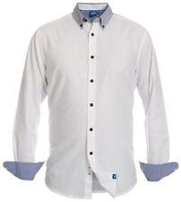 Camicie classiche da uomo in cotone bianca XL