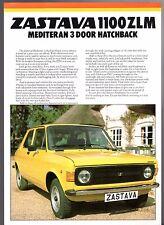Zastava 1100 ZLM Mediteran 3-dr 1981-82 UK Market Leaflet Sales Brochure Yugo
