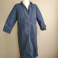 EDDIE BAUER Down GORE-TEX JACKET Winter Trench Coat Womens Medium Long Blue
