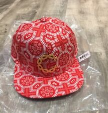 CROOKS AND CASTLES WOVEN THUXURY GOLD CHAIN C VENITIAN SNAPBACK IN TRUE RED! $45
