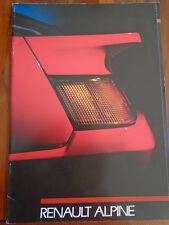 Renault Alpine brochure 1988 Italian text