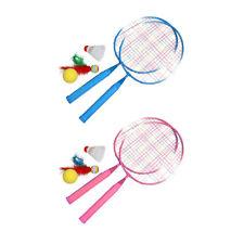 Spielen Spiele SPORTS Federball Schläger Set Kinder Badmintonschläger #R