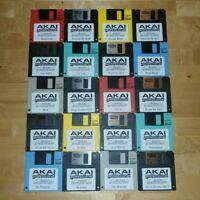 Akai MPC 2000XL x20 Diskettes Drum Kit Sounds Samples Floppies Floppy