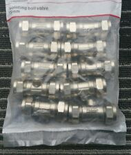 10 x 15mm Isolating Valve - Chrome Plumbing Compression Isolator Isolation Water