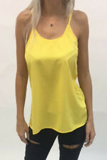 Yellow Strappy Cami Vest Top - Light Weight Cami - FREE P&P!