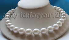 Genuine Natural 13-15mm White Round Edison Reborn Keshi Pearl Necklace 9k #f3034