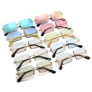 Sonnenbrille Randlos Rechteckig Damen Herren Stylisch 100% UV400 14 FARBEN