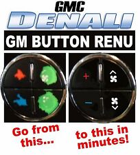 2007-2013 GMC DENALI AC BUTTON DECALS GM CLIMATE CONTROL REPAIR SET
