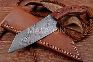 Damast  Messer, sehr schönes Hand geschmiedetes Damast Jagd Messer 727EA