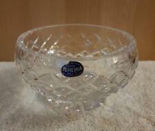 Bohemia Crystal Bowl 12 cm corte de mano 24% de cristal de plomo
