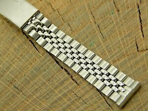 Seiko Vintage Watch Band 14mm Stainless Deployment NOS Unused Beads of Rice