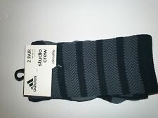 adidas Women Studio 2 pair Crew Socks NWT