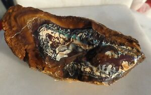 Boulder opal mineral specimen collection lapidary rough skin polish TB363